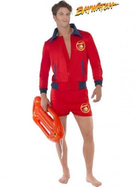 Disfraz de Vigilante de la Playa Corto para hombre