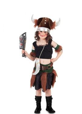 Disfraz de Vikinga con bolso para niña