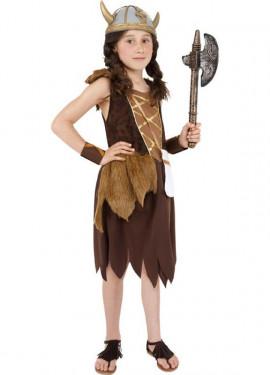 Déguisement Fille Viking Barbare pour enfants plusieurs tailles