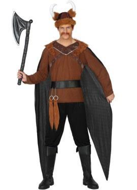 Disfraz de Vikingo con capa para hombre