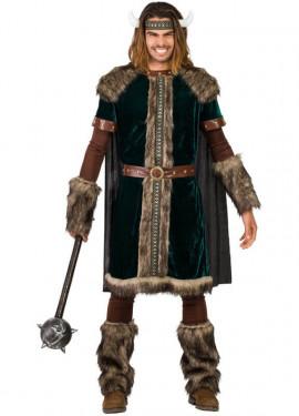 Disfraz de Vikingo verde para hombre