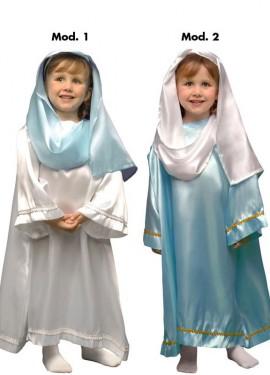 Disfraz de Virgen para niñas en 2 modelos y varias tallas