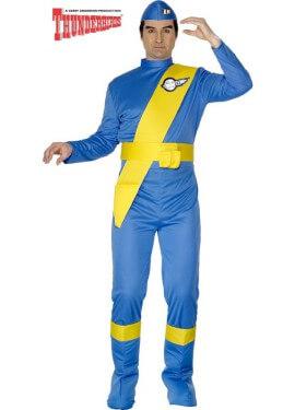 Disfraz de Virgil de Thunderbirds Azul para hombre