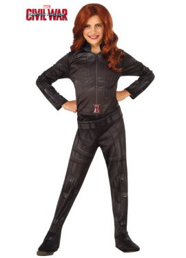 Disfraz de Viuda Negra Classic de Marvel para niña
