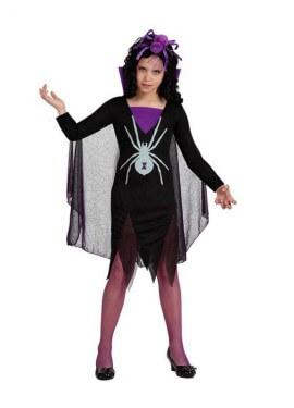 Disfraz de Viuda negra para niñas