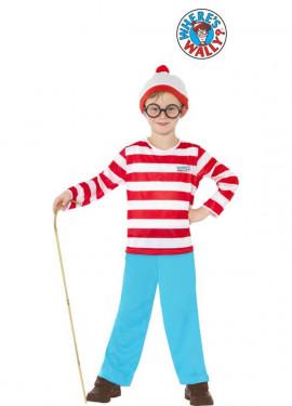 Disfraz de Wally de Donde está Wally para niño
