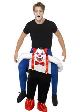 Disfraz de Zombie a Hombros de Payaso Siniestro para adultos