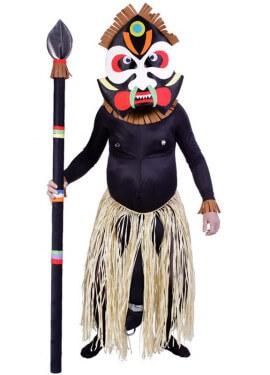 Disfraz de Zulú sorpresa con piercing para hombre