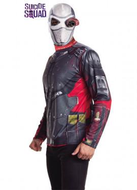 Disfraz Deadshot de Escuadrón Suicida con máscara para hombre