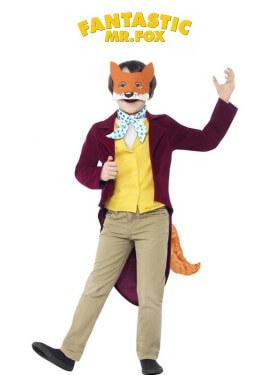 Disfraz del Fantástico Sr. Fox de Roald Dahl para niño