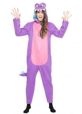 Disfraz Dinosaurio Lila para mujer