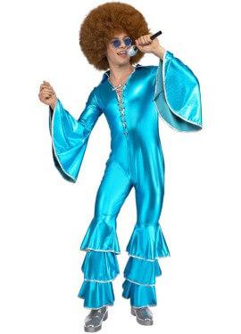 Disfraz Disco Azul Turquesa para hombre