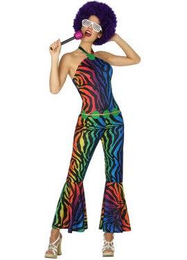 Déguisement de Disco Multicolore pour femme