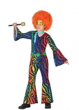 Disfraz Disco con estampado multicolor para niño