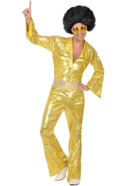 Disfraz Disco Dorado para hombre