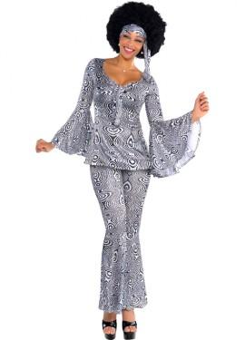 Déguisement Disco Hippie Dancing Queen pour femmes plusieurs tailles