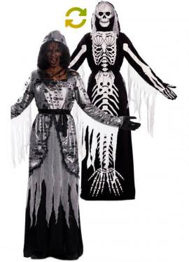 Costume doppio della morte e sirena, scheletro per adulto