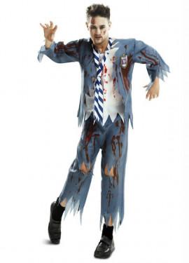 Disfraz Estudiante Zombie chico para hombre de Halloween