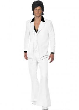 Disfraz Fiebre de los años 70 Blanco para Hombre