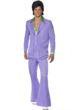 Disfraz Fiebre de los años 70 Lavanda para Hombre