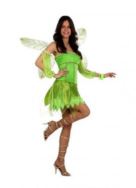 Disfraz Hada del Otoño verde para mujer