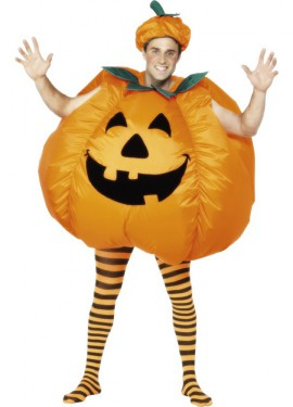Disfraz Hinchable de Calabaza con inflador para adultos