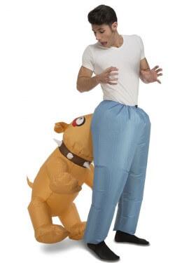 Disfraz Hinchable de Perro mordiendo para adultos