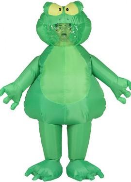 Disfraz Hinchable de Rana verde para adultos
