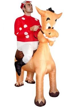 Déguisement Gonflable Carry Me Jockey et Cheval pour adulte