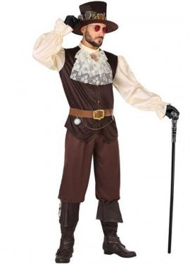 Disfraz Marrón Steampunk para hombre