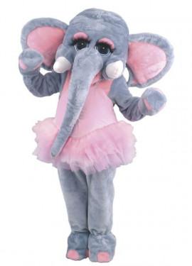 Disfraz Mascota Elefanta bailarina para adultos