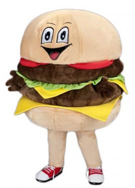 Disfraz Mascota Hamburguesa contenta para adultos