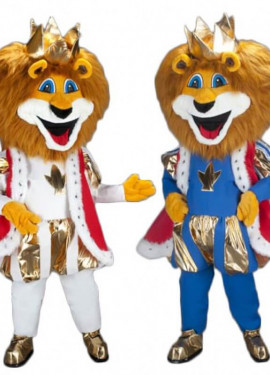 Disfraz Mascota León Rey para adultos