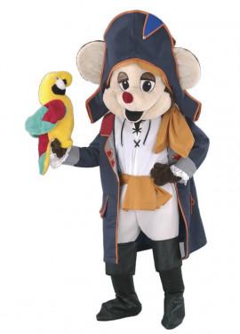Disfraz Mascota Ratón Pirata para adultos