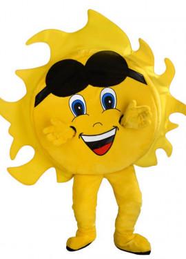 Disfraz Mascota Sol sonriente para adultos