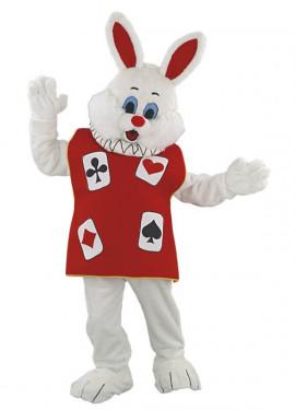 Costume mascotte coniglio fortunato per adulti