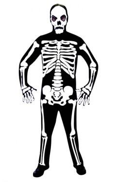 Disfraz mono de Esqueleto para hombres en talla M-L para Halloween