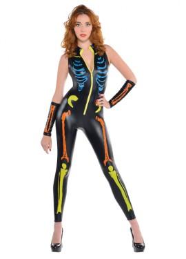Déguisement de Squelette Multicolore pour femmes pour Halloween