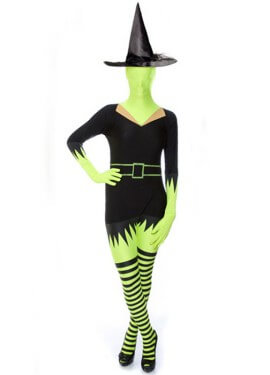 Disfraz MORPHSUIT modelo Bruja de adultos