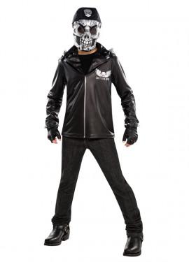 Disfraz Motorista calavera niños y adolescentes Halloween