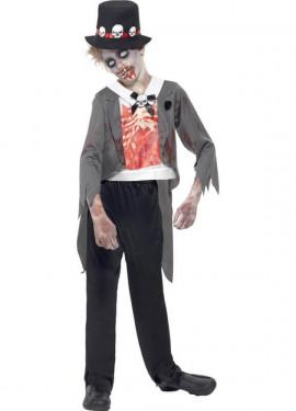 Déguisement de Marié Zombie pour garçon plusieurs tailles