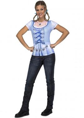 Camicia blu bavarese per donna
