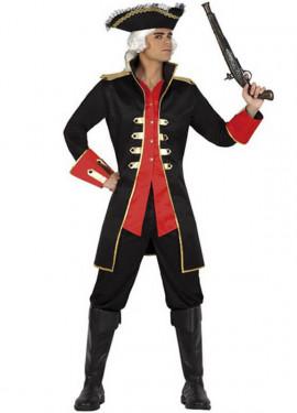 Disfraz o Chaqueta de Capitán Pirata para hombre