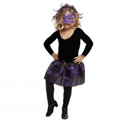 Disfraz o Kit Araña para niña: Diadema, Máscara y Tutú