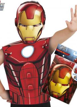 52129035889 Disfraz o Kit de Iron Man para niño  Máscara y Camiseta