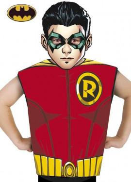 Disfraz o Kit de Robin de Batman para niños: Máscara y Camiseta