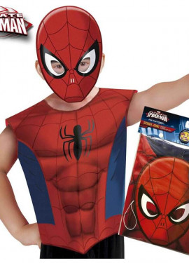 Disfraz o Kit de Spiderman para niño: Máscara y Camiseta