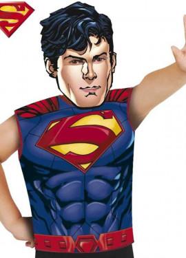 Disfraz o Kit de Superman para niños: Máscara y Camiseta