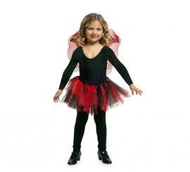 Disfraz o Kit Vampiresa para niña: Tutú y alas