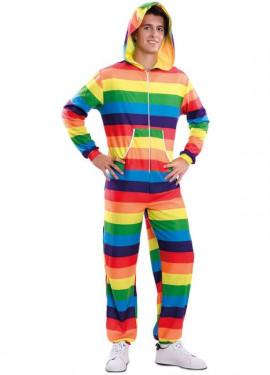 Disfraz o Mono Arcoíris para adultos